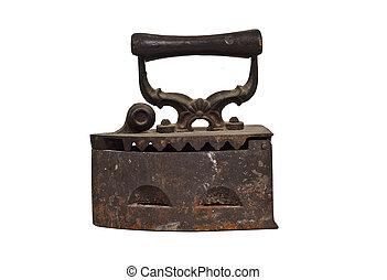 Old iron, isolated on white background
