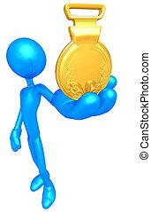 1r lugar, medalla de oro