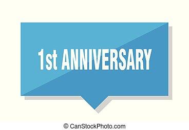 1st anniversary price tag - 1st anniversary blue square...