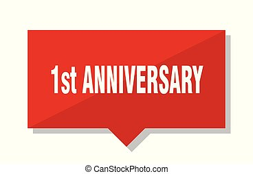 1st anniversary red tag - 1st anniversary red square price...