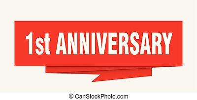 1st anniversary sign. 1st anniversary paper origami speech...