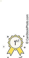 1st badge icon design vector