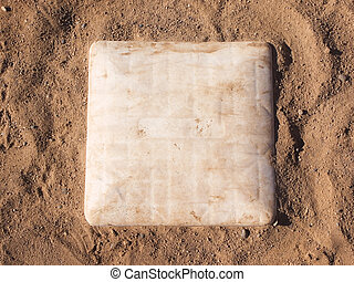1st Base - First base on a baseball field