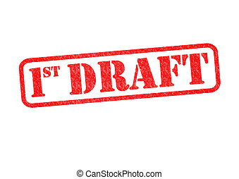 1ST DRAFT Rubber Stamp over a white background.