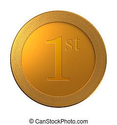 1st gold coin medal template