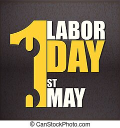 1st May Labor Day Black Background Vector Image