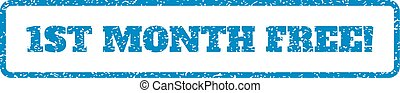 1St Month Free! Rubber Stamp