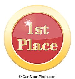 1st Place Icon - A 1st place icon isolated on a white...
