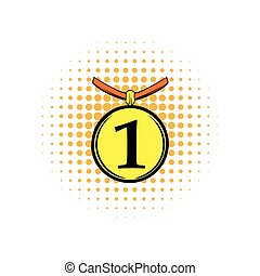 1st place medal comics icon