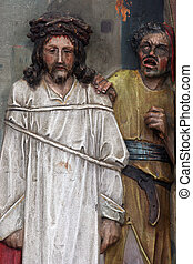 1st Stations of the Cross, Jesus is condemned to death