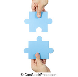 2つの手, 接続, パズル小片