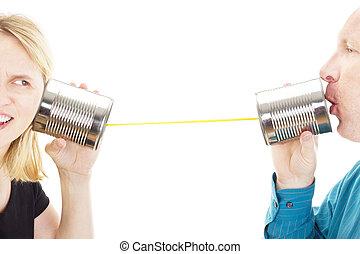 2人の人々, 持つこと, a, 会話