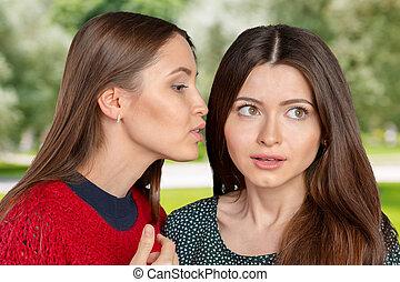 2人の女性たち, うわさ話