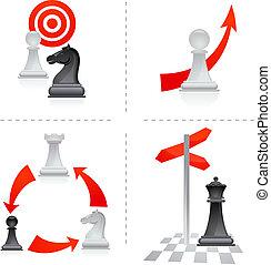2, -, échecs, métaphores