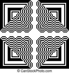 2 , πρότυπο , αφαιρώ , τετράγωνο , τρίγωνο