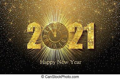 2 , φόντο , αφρώδης , χαιρετισμός , κέντρο στόχου αγγελία , 21 , αριθμοί , αφίσα , πρόσκληση , 1 , σημαία , clock.., μικροβιοφορέας , ευτυχισμένος , χρυσαφένιος , ημερολόγιο , γιορτή , έτος , εικόνα , καινούργιος , texture., 2021.