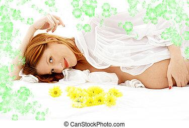 #2, פרחים, יופי, בהריון