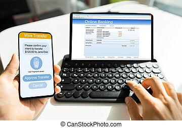 2, オンラインで, authentication, 銀行, factor