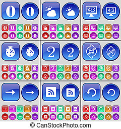 2, セット, 決断, ゼロ,  reload, 大きい, ボタン, ストップウォッチ, 矢, 多彩, 権利, 雲,  rss