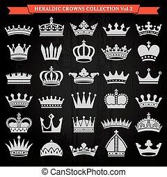 2, セット, 王冠