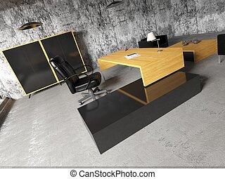 2, デザイン, オフィス, render