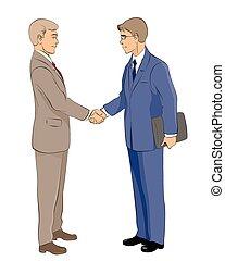 2, ビジネスマン, 握手