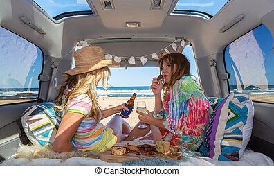 2, ビーチの生命, 女の子, 夏, 楽しみなさい, バン