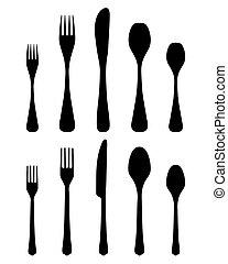 2, 刀叉餐具