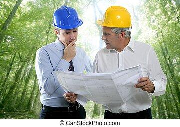 2, 建築家の計画, チーム, 専門知識, エンジニア, 森林