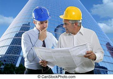 2, 建築家の計画, チーム, hardhat, 専門知識, エンジニア