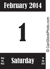 2 月, 01, 日々, 数, 行きなさい, 2014, カレンダー, 日, ページ