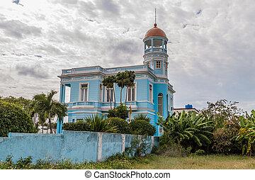 2 月, hostal, キューバ, 11, ホテル, cienfuegos, -, 2016:, azul, 幼獣, palacio