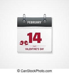 2 月14 日, バレンタイン, 日付, カレンダー, 日