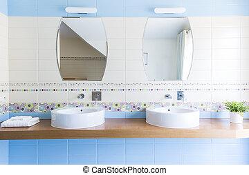 2, 流し, ∥で∥, 鏡, 中に, ∥, ミニマリスト, 浴室