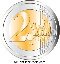 2, 硬幣, 歐元