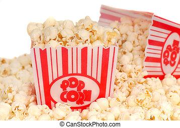 2, 箱, の, 映画, ポップコーン