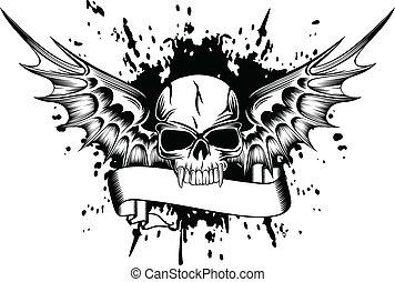 2, 翼, 頭骨
