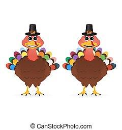 2, 面白い, 微笑, トルコ, 上に, 感謝祭, 日