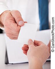 2, 실업가, 교환하는 것, 카드