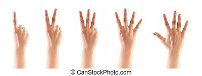 2, 4, 5), 3, , conteggio, (1, mani