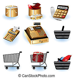 2, achats, icônes