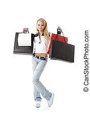 #2, adolescente, shopping, menina