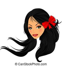 2, asiático, beleza