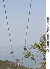 2, auto, 2009, kabel, mei, lantau, eiland