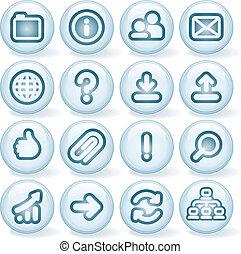 #2, błyszczący, okrągły, ikony