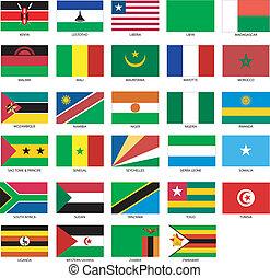 2, banderas, africano