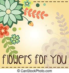 2, bannière, fleur