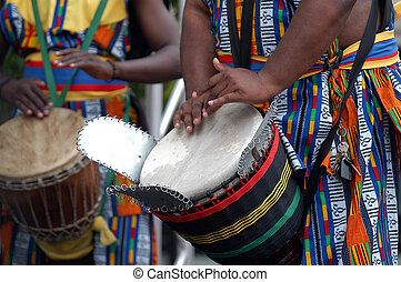 2, batteur, africaine