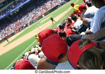 2, beisball, multitud
