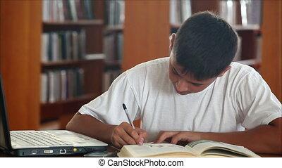 2, bibliothèque, écolier